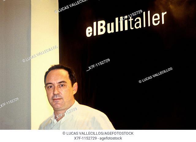 Ferran Adrià in El Bulli Tallerworkshop of Bulli Here Ferran Adrià and his research group works Portaferrissa street Barcelona Spain