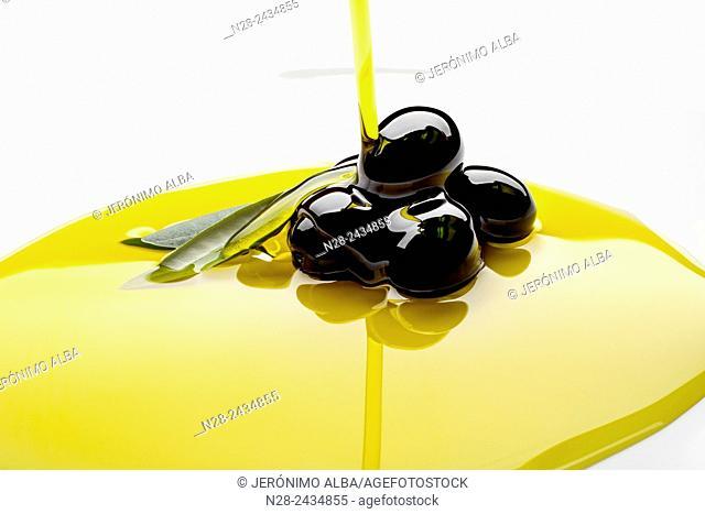 Black olives extra virgin olive oil