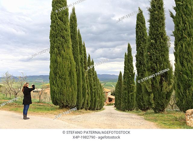 Val d'Orcia, Orcia Valley, Tuscany, Italy