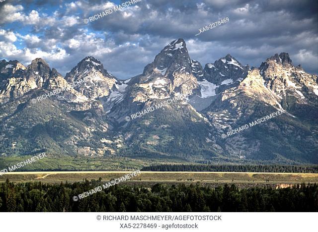 Teton Range, Grand Teton National Park, Wyoming, USA