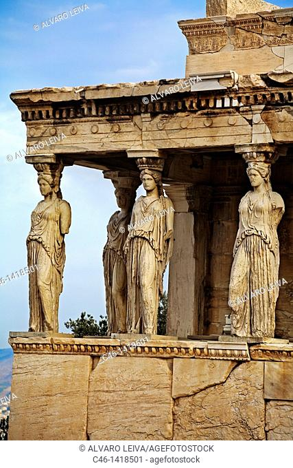 Caryatids, Porch of Maidens, Acropolis, Greece