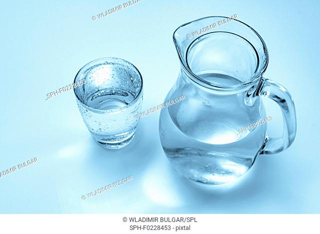 Glass and jug of water