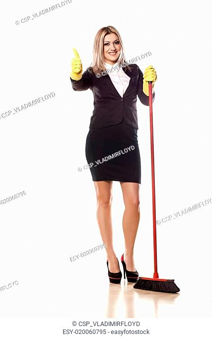 Cleaning business lady
