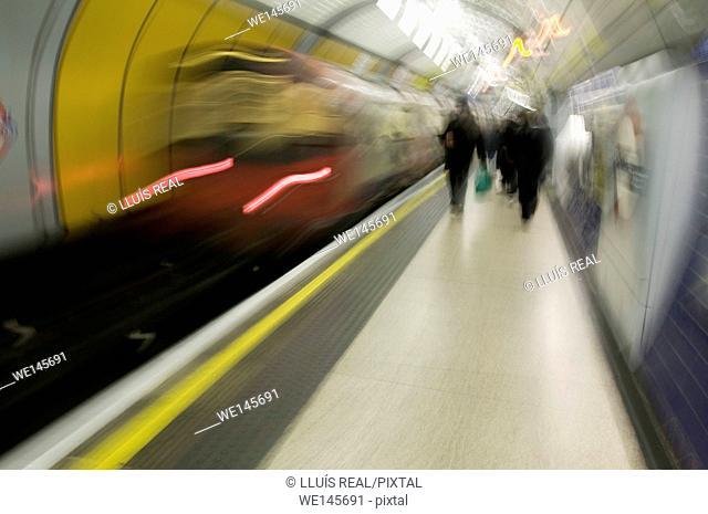 London Underground, Tube Station. London, England