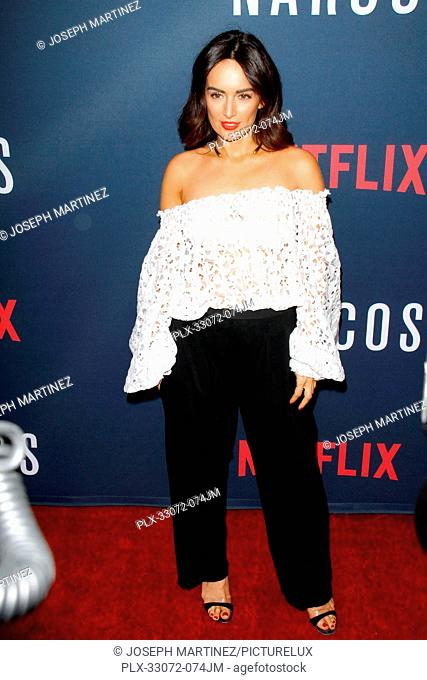 Ana de la Reguera at the Premiere of Netflix's Narcos Season 2 Premiere held at Arclight Hollywood in Hollywood, CA, August 24, 2016