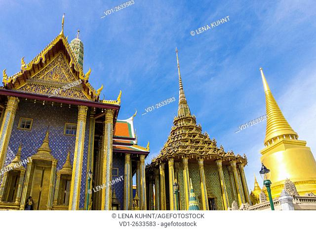 Temple of the Emerald Buddha (Wat Phra Kaew), Grand Palace complex, Bangkok, Thailand