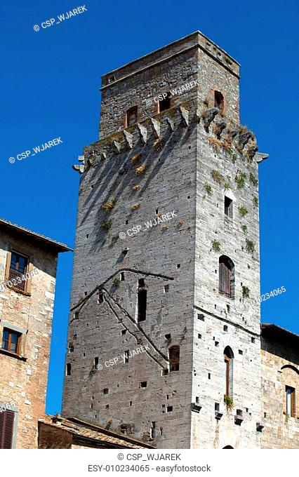 San Gimignano- small walled medieval hill town in the Tuscany