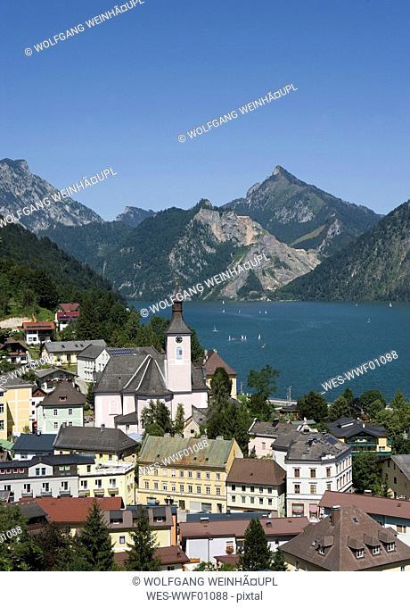Austria, Salzkammergut, Ebensee on Lake Traunsee