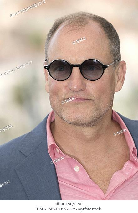Woody Harrelson poses at the photo call of 'Solo: A Star Wars Story' during the 71st Cannes Film Festival at Palais des Festivals in Cannes, France
