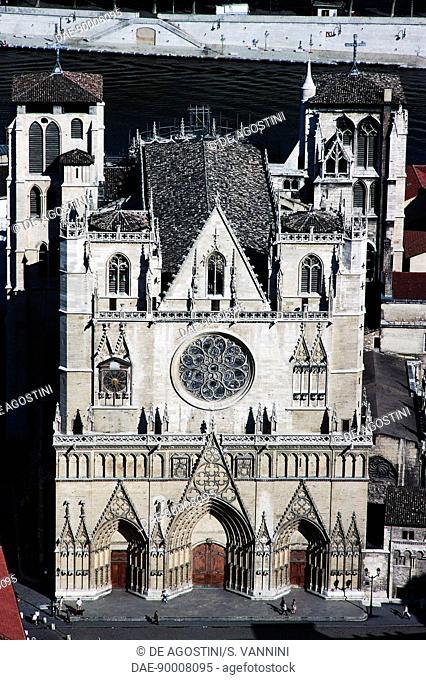 Lyon Cathedral (dedicated to Saint John the Baptist and Saint Stephen), 1180-1480, Lyon, Rhone-Alpes, France, 12th-15th century