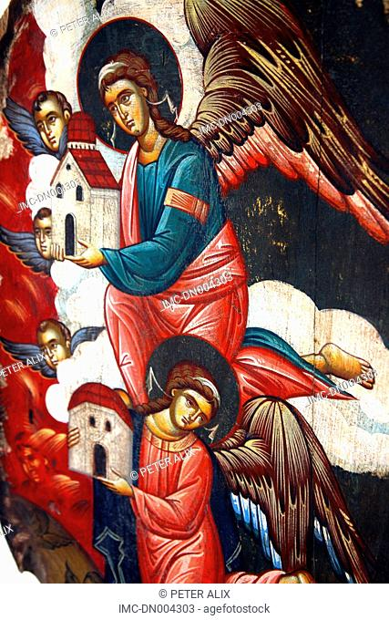 Greece, Cyclades, Mykonos, religious painting
