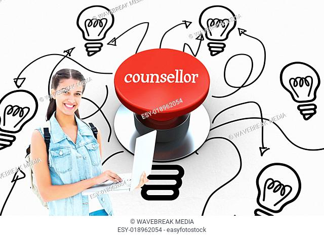 Counsellor against digitally generated red push button