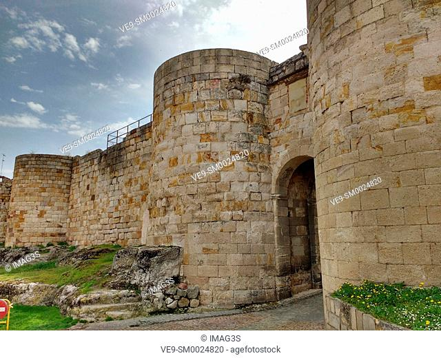 Fortress wall in Zamora city, Spain