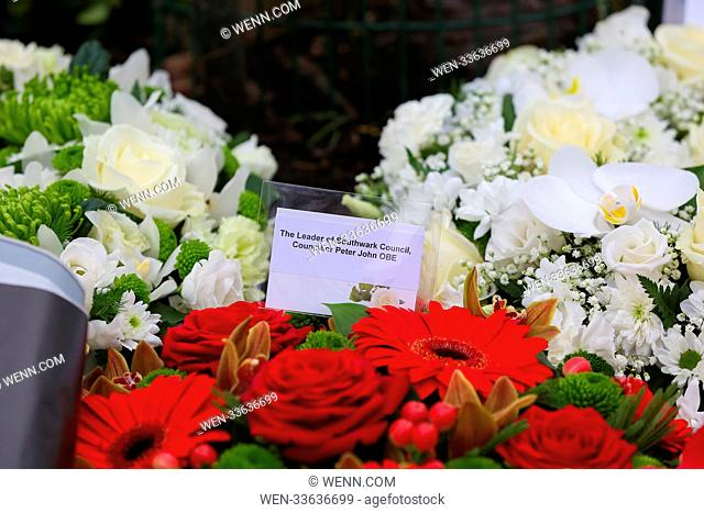 Politicians, members of police, armed forces, ventures and invited guests attends the Holocaust Memorial Day ceremony at Soviet War Memorial in the Geraldine...