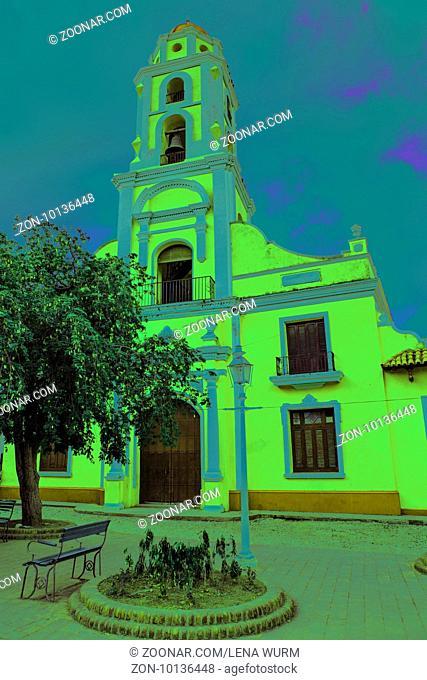 Trinidad, Cuba - December 18, 2016: Old church in the colonial town of Trinidad in Cuba / UNESCO World Heritage