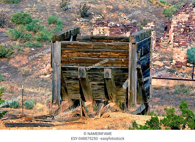 Old abandoned mine shaft Stock Photos and Images | age fotostock