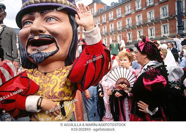 'Gigantes y cabezudos'. San Isidro Festival. Madrid. Spain