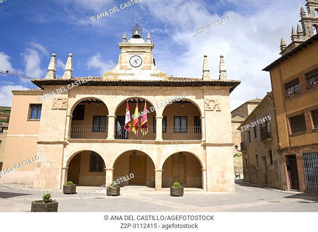 Ayllon Cradle Of The Red Villages Of Segovia Spain. The city hall