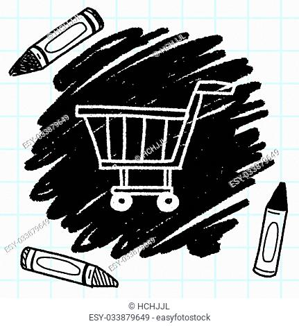 Doodle Shopping cart