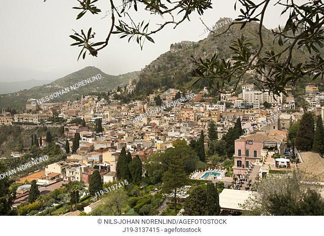 Taormina, towards the volcano Etna