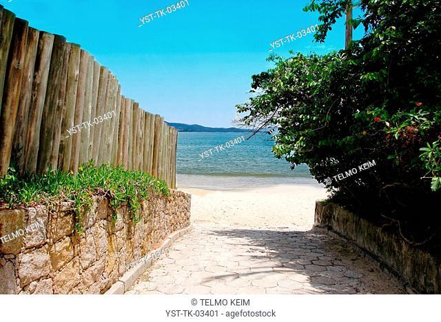 Beach, sea, ocean, sand, coastline, Jurere, Florianópolis, Brazil