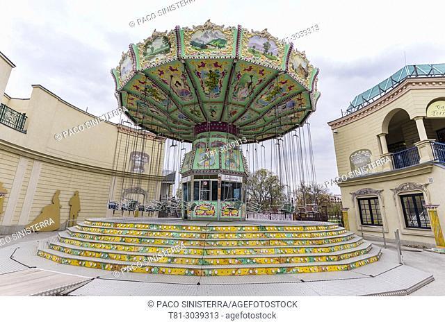 Prater, Vienna, ferris wheel, Carousel, amusement park