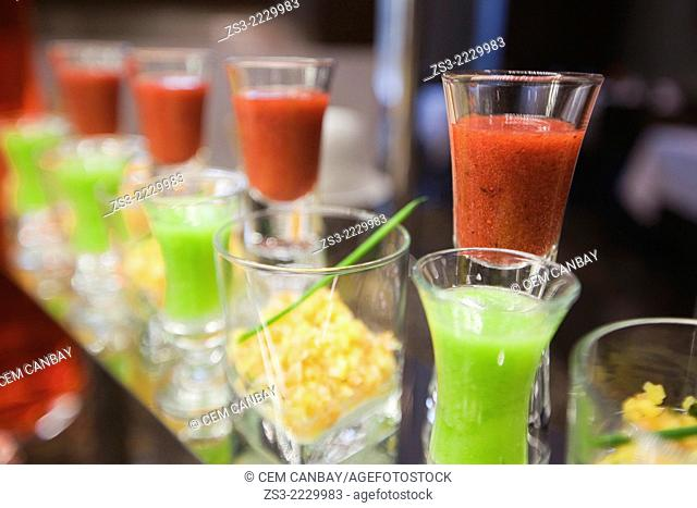 Still-life photo of salad sauces, Taksim, Istanbul, Marmara Province, Turkey, Europe