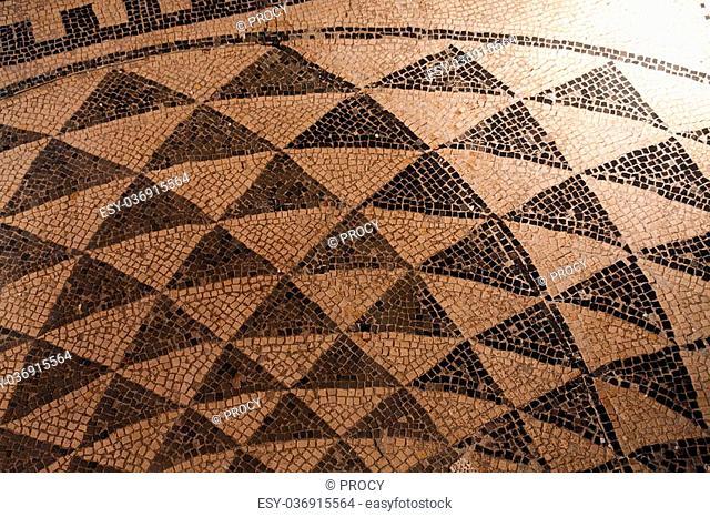 ancient mosaic discovered in segobriga ruins (spain)