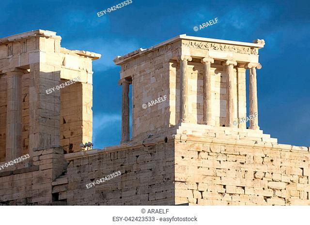 temple of athena nike, propylaea of acropolis