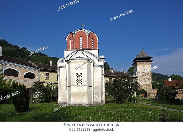 Serbia,Studenica Monastery,founded by Grand Prince Stefan Nemanja,late 12th century,the King's Church,Western Gate,Orthodox,christian,religious,exterior,outside