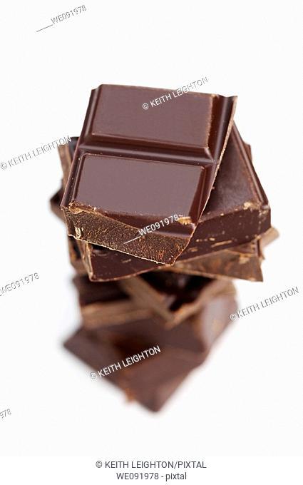 Pile of dark chocolate
