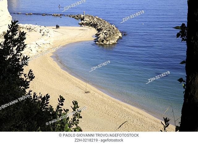 Urbani beach, Riviera del Conero, Adriatic Sea, Sirolo, Ancona, Marche, Italy