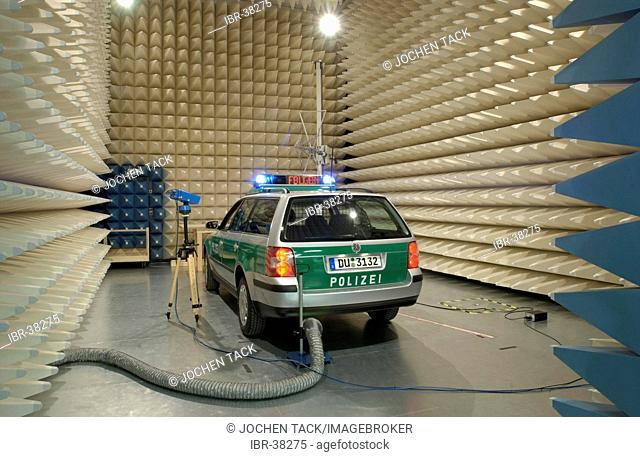 DEU, Germany, Duisburg: Test laboratroy for electromagnetical compatibility of technical equipment. ZPD-Zentrale Polizeistechnische Dienste - Central support...
