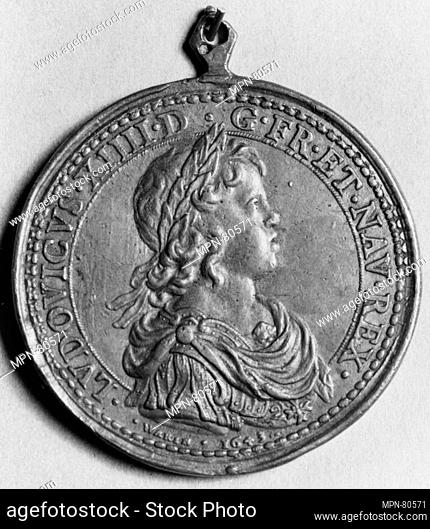 Louis XIV and Anne of Austria. Artist: Medalist: Jean Varin (French, 1606-1672); Date: 1643; Culture: French; Medium: Bronze; Dimensions: Diam