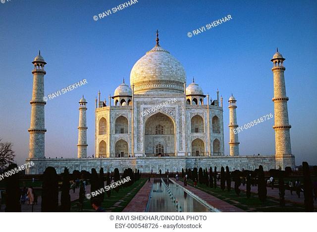 Taj mahal seventh wonder of world , Agra , Uttar Pradesh , India