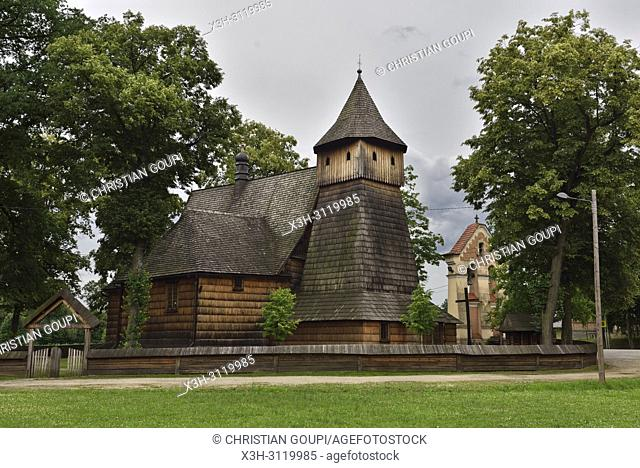St. Michael Archangel's Church in Binarowa, Malopolska Province (Lesser Poland), Poland, Central Europe