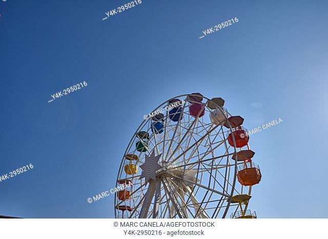 Spain, Barcelona, Tibidabo Amusement Park, Ferris Wheel