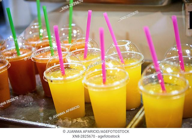 Assorted fruit soft drinks
