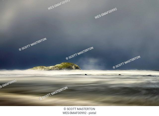 United Kingdom, Scotland, East Lothian, North Berwick, east coast, winter storm