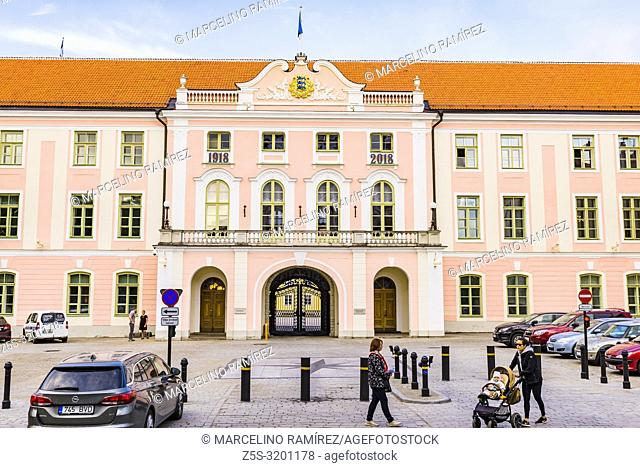 Parliament building in Toompea Castle: the seat of the Parliament. Tallinn, Harju County, Estonia, Baltic states, Europe