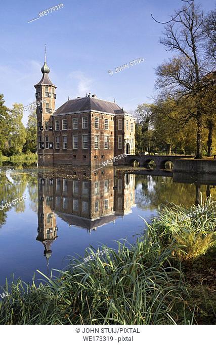 Bouvigne castle near Breda with autumn colored trees