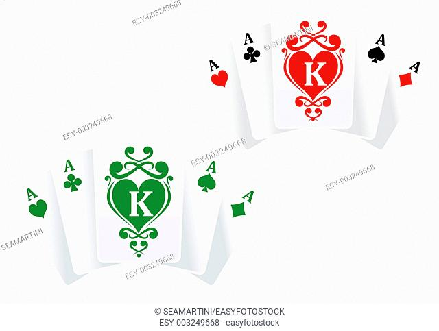 Poker symbol with cards as a lucky concept