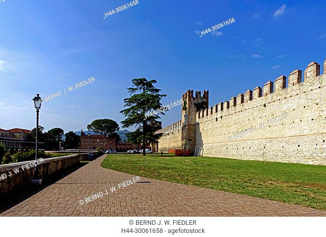 Europe, Italy, Veneto Veneto, Soave, via Mere, town wall, Tiro A Segno Nazionale, plants, historically, wall, museum, building, place of interest, tourism