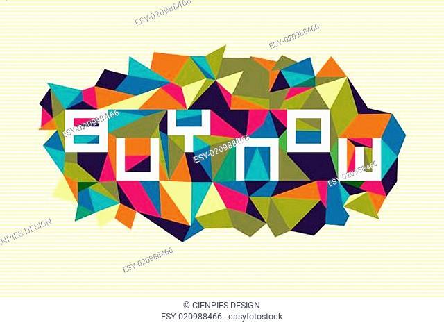 Fashion abstract geometric design