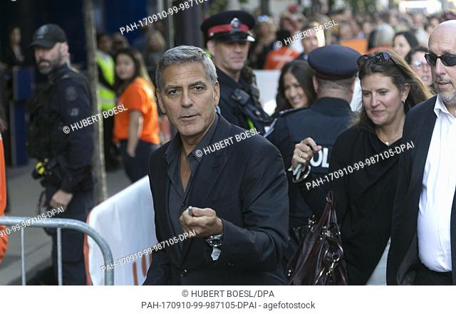George Clooney attends the premiere of 'Suburbicon' during the 42nd Toronto International Film Festival, tiff, at Princess of Wales Theatre in Toronto, Canada