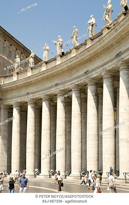 Saint Peters square in the Vatican, Rome
