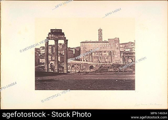 Campo Vaccino (Foro Romano). Artist: Eugène Constant (French, active Italy, 1848-55); Date: 1848-52; Medium: Albumen print from glass negative; Dimensions:...