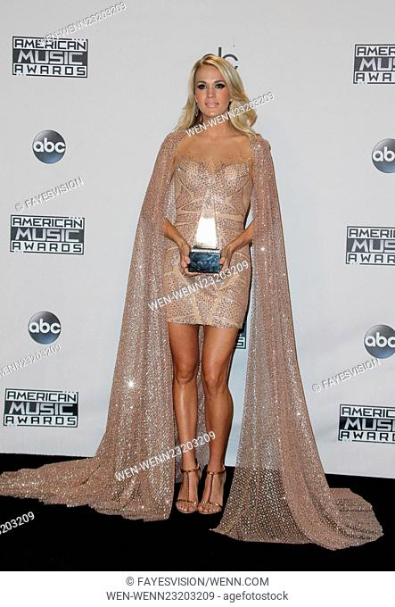 2015 AMERICAN MUSIC AWARDS-Press Room Featuring: Carrie Underwood Where: Los Angeles, California, United States When: 22 Nov 2015 Credit: FayesVision/WENN