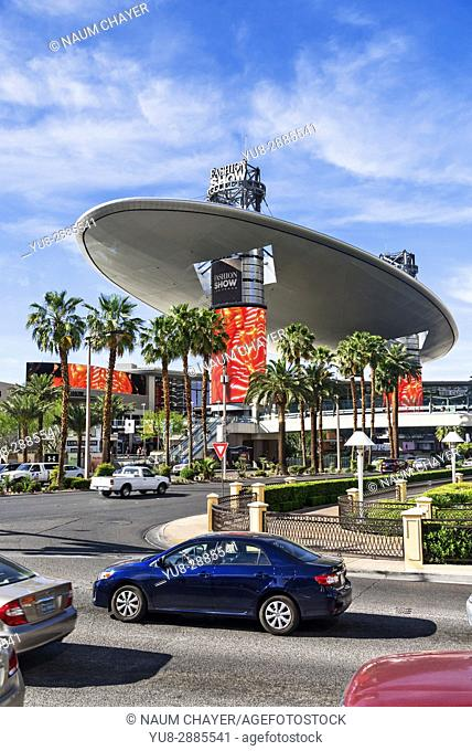 Vertical view of Fashion show mall, Las Vegas, The Entertainment Capital of the World, Nevada, USA