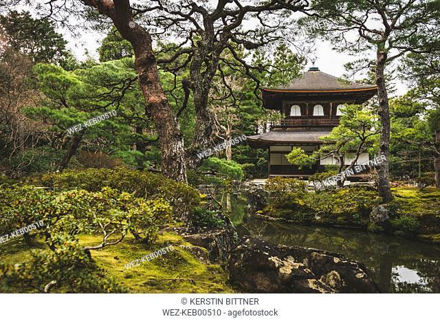 Japan, Kyoto, Silver Pavilion in Ginkaku-ji Temple